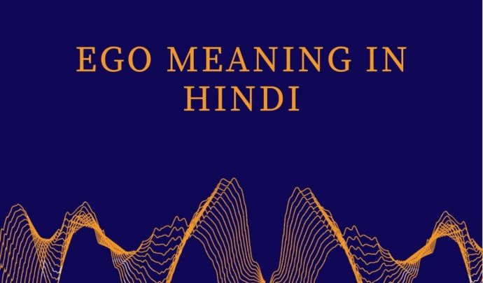 Ego meaning in hindi